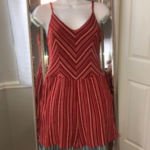 3 for $20 One Clothing Striped Romper Red White M